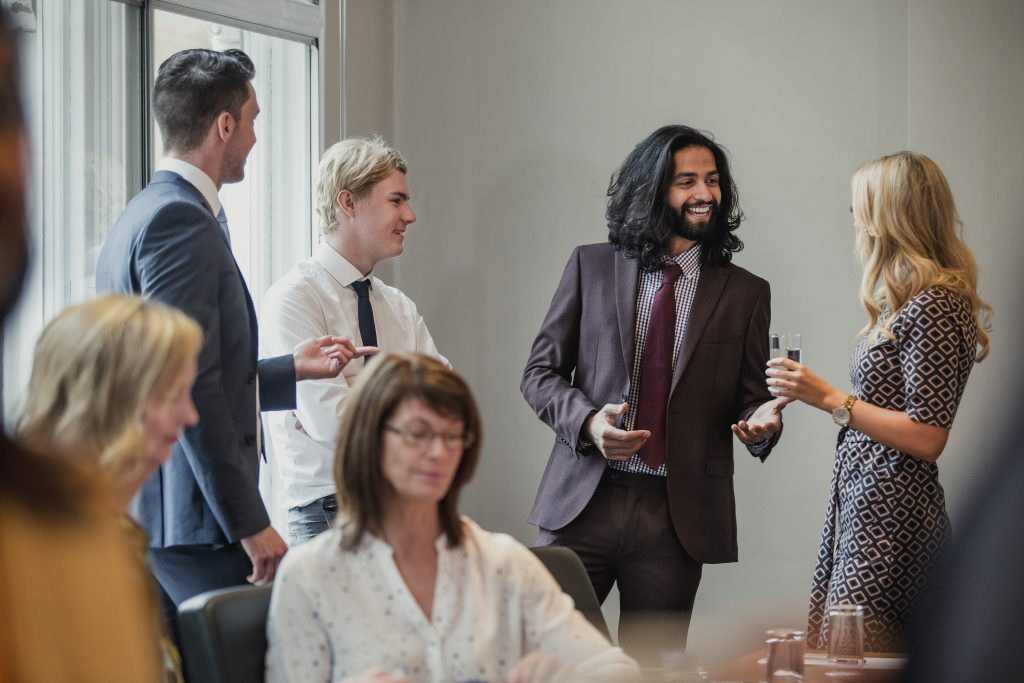 networking event for freelancers where they meet each other