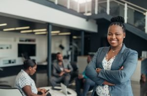 confident businesswoman growing her business